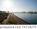 Toyosu Wharf Gururi Park Tokyo Japan Stock Photo Stock Images Stock Pictures 74718275