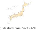 日本地圖 74719320