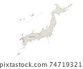 日本地圖 74719321