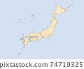 日本地圖 74719325