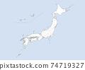 日本地圖 74719327
