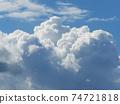 clouds in the blue sky 74721818