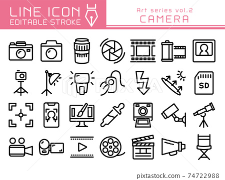 Line Icon Art系列Vol.2相機攝影 74722988