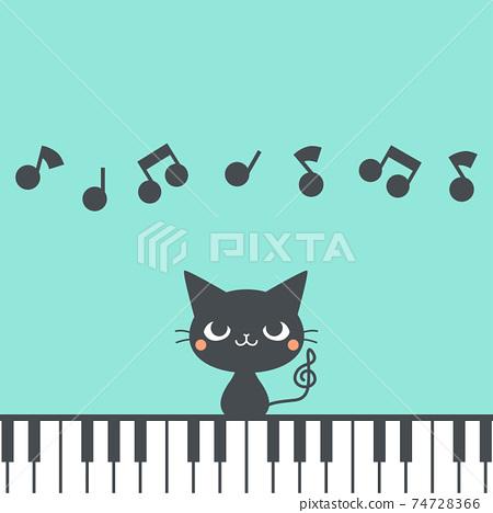 黑貓和鋼琴 74728366