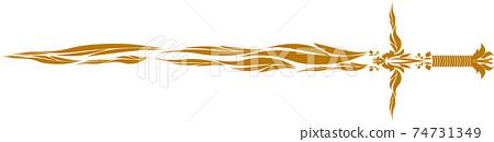 Fashionable calligraphy sword 74731349