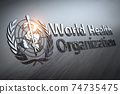 World Health Organization sign and symbol. 74735475