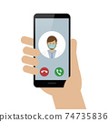 person calling doctor with smartphone cell 74735836