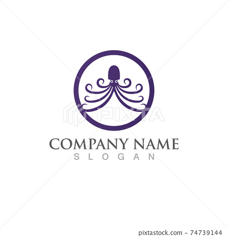 octopus animal logo and symbol icon vector image 74739144