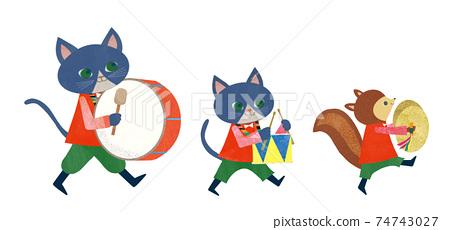 貓和松鼠 74743027