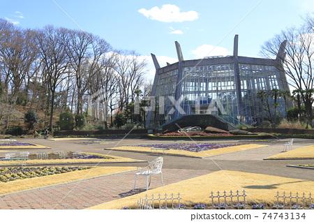 가와구치 시립 그린 센터 화단 광장과 대 온실 사이타마 현 카와 구치시 74743134