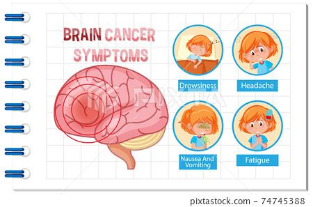 Information poster of human brain diagram 74745388