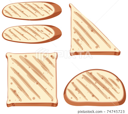 Set of healthy toast and bread 74745723