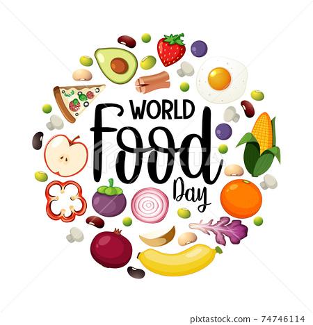 World food day banner 74746114
