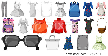 Set of female outfit 74746170