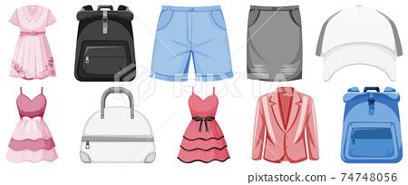 Set of clothes mock up 74748056