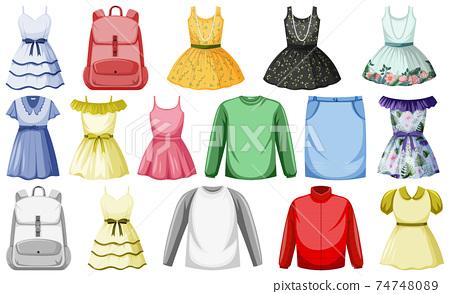 Set of clothes mock up 74748089