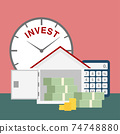 saving money and  making plan for real estate investment 74748880