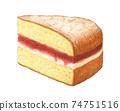夾心蛋糕手繪水彩鉛筆素描 74751516