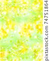 閃光的油菜花和音符的背景垂直 74751864