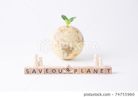 全球變暖環境問題生態形象 74755960