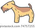 側身威爾士梗犬圖 74757255