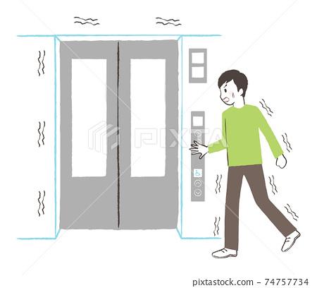 지진 때는 엘리베이터를 사용하지 74757734