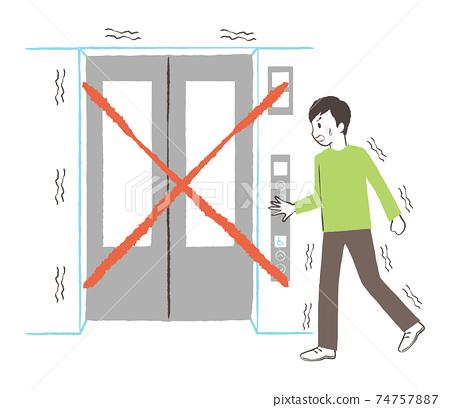 지진 때는 엘리베이터를 사용하지 말라 74757887