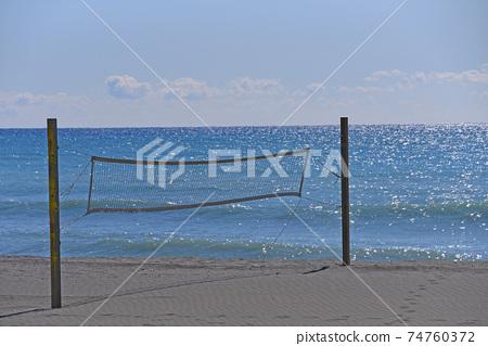 沙灘排球場風景 74760372