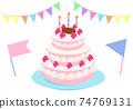 華麗的生日蛋糕圖 74769131