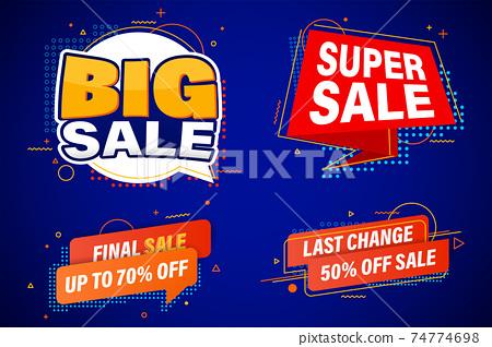 Set of sale banner or promo template design for online web. 74774698
