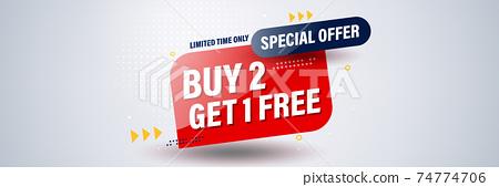 Buy get free banner template design for social media or website. 74774706