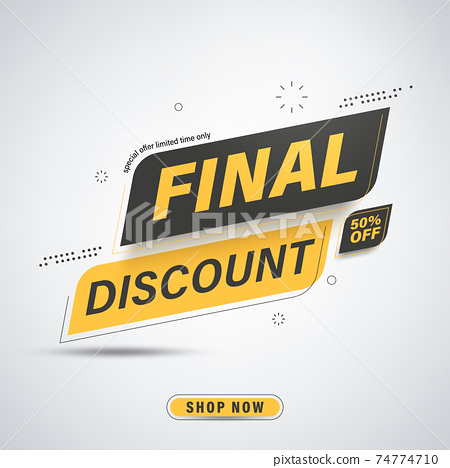Final discount banner template design for website or social media, save up to 50% off. 74774710