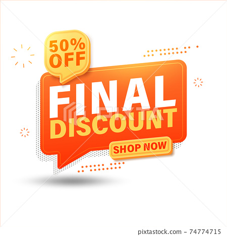 Final discount sale banner for website, up to 50% off. 74774715