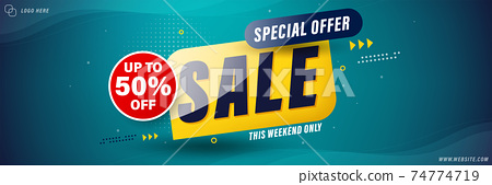 Sale banner template design for web, Sale special up to 50% off. 74774719
