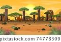 African forest landscape background 74778309
