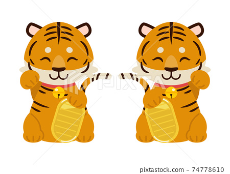 受邀的老虎插圖素材:Maneki老虎插圖素材 74778610