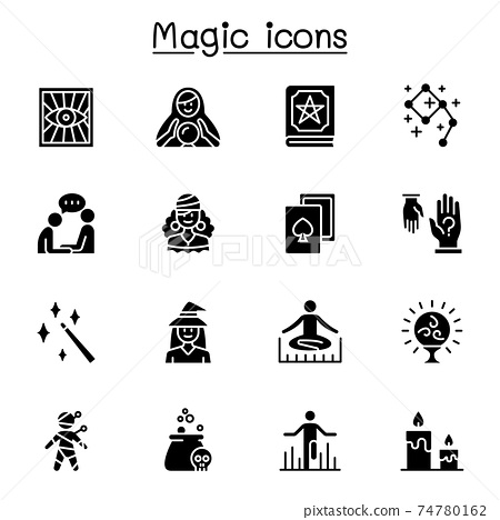 Magic & clairvoyance icon set vector illustration graphic design 74780162