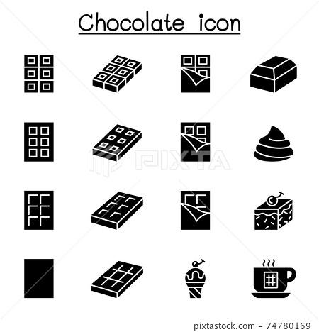 Chocolate icon set vector illustration graphic design 74780169