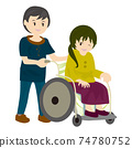 Welfare wheelchair 74780752