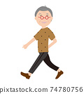 Walking elderly people 74780756