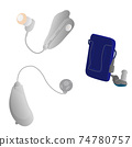 Various hearing aids 74780757