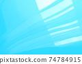 藍色抽象背景與溫柔的流線 74784915