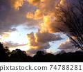 黃昏的冬日天空 74788281