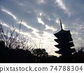 東寺剪影/五層塔 74788304