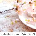 Cherry blossom aroma candles, cherry blossoms and powder snow 74789174