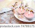 Cherry blossom aroma candles, cherry blossoms and powder snow 74789175