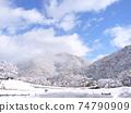 岐阜縣白川鄉的雪景 74790909