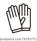 Protective gloves icon 74793771