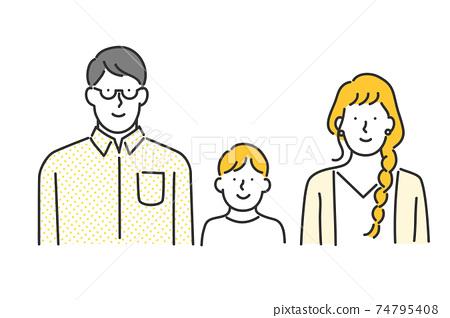 30年代家庭的插圖素材 74795408