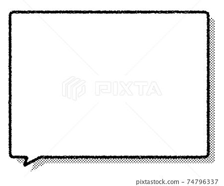 그린 풍선과 도트 그림자 74796337